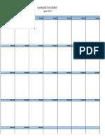Calendario Operaciones Junio 2014