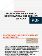Aplicación de La Tabla Geomecanica
