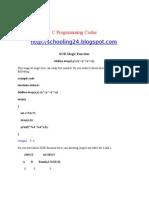 C Programming Codes