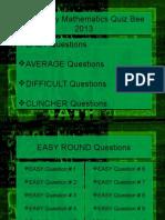 University Math Quiz PPT