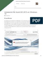 Instalación de AutoCAD 2015 en Windows 10 _ Seburgi