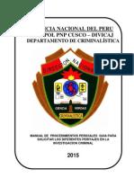 Manual de Procedimientos Periciales Criminalistica 2015 Ok