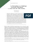 Economic Nationalism as a Challenge to Economic Liberalism