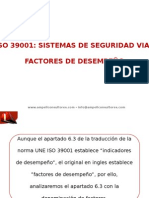 ISO 39001 Factores de Desempeño SV