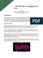 Understanding DOCSIS Throughput