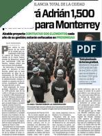 21-11-15 Sumará Adrián 1,500 policías para Monterrey.