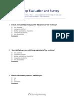 workshop evaluation and survey