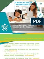 Planeacion de Sesiones Pedagogicas
