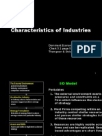 Characteristics of an Industry 1
