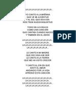 La La La Massiel yO CANTO A LA MAÑANA