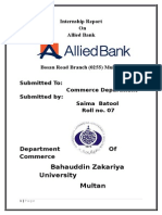 Allied Bank Report