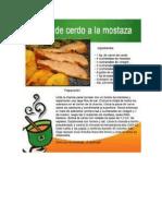 receta de carne a la mostaza