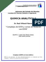 QUIMICA ANALITICA Complejos de EDTA Con Iones Metalicos y Curvas de Titulación Con EDTA