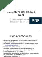 Estructura Del Trabajo Final
