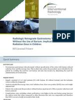 Gastrosotomy Radiation