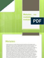 Metales , No Metales y Metaloides