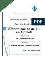 Determinación de Cu en ajonjoli