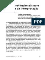 RIBEIRO MOREIRA - Neoconstitucionalismo