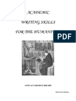 Academic Writing for the Humanities