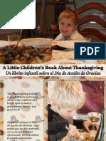 Un Librito Infantil Sobre El Día de Acción de Gracias - A Little Children's Book About Thanksgiving
