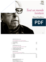 DUTILLEUX, H.- Tout Un Monde Lointain …