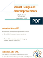 instructional design and assessment improvements
