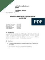 Reporte No. 3, Calibración y Aplicación