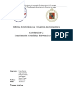 Informe de laboratorio de conversión electromecánica n°2