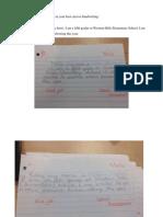Cursive Handwriting Pre-Test