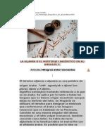 La Aljamia o El Mestizaje Linguistico en Al-Andalus