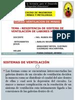 6. Resistencia de Sistema de Ventilacion Minera