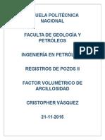 Volumen de Arcillosidad Registros Electricos