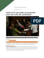 Condiciones Partidos voto de confianza