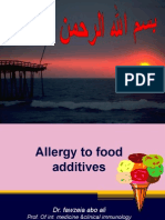 Allergy to Food Additives