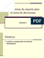 Sistemas de Soporte para la toma de decisiones.