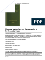 Historical Materialism & the Economics of Karl Marx by Benedetto Croce