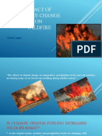 Impact of Climate Change on Wildfire