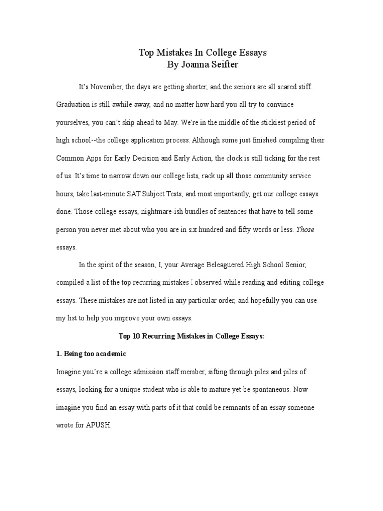 Essay Thesis Statement Examples  How To Write A Thesis For A Narrative Essay also Photosynthesis Essay Top Mistakes  College Admissions In The United States  Essays My Hobby English Essay