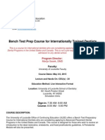 Course Information Bench Test Prep Course May 2015