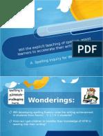 Spelling Inquiry 2015
