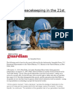 Effective Peacekeeping in the 21st Century
