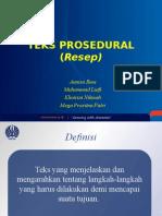 Teks Prosedural Resep