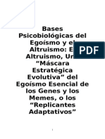 Bases Psicobiológicas Del Egoísmo y El Altruismo