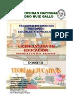 Dossier Teorías Educativas.doc