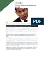 Congreso Peruano No Da Voto de Confianza a Gabinete Ministerial