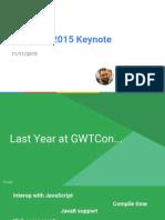 GWTCon 2015 Keynote