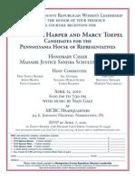 Toepel-Harper Fundraiser Flyer