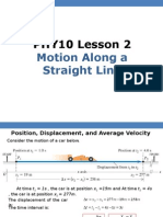 PHY10 Lesson 2 Kinematics (Full)