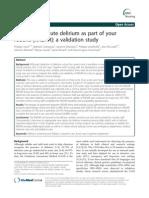Recognizing Acute Delirium as Part of Your Routine [RADAR] a Validation Study_2015_DEM