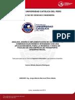 Becerra Carlos Sistema Comercio Electronico Pasajes Empresa Transporte Interprovincial